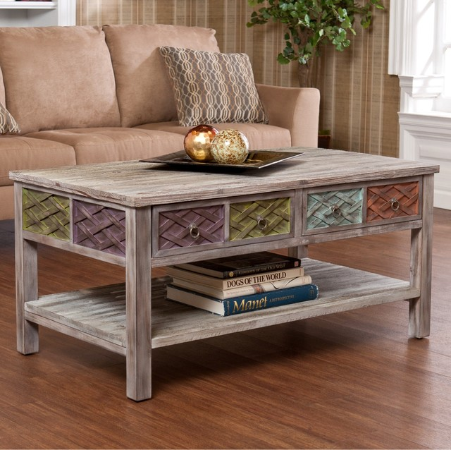 Upton Home Lafond Cocktail Coffee Table Contemporary Coffee Tables By