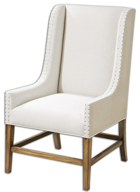 Dalma Wing CHair By Uttermost Transitional Armchairs And Accent Chairs