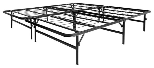 Lucid foldable metal platform bed frame and mattress foundation full contemporary platform - Platform bed frame australia ...