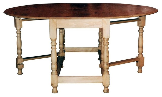 Rectangular based oval drop leaf gateleg table w stretcher for Rectangular drop leaf dining table