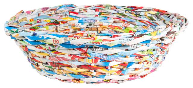 Corbeille en papier multicolore h 9 cm - Corbeille de fruits maison du monde ...