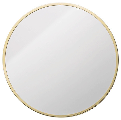 Gold round mirror holly 39 s house contemporary wall for Large round gold mirror