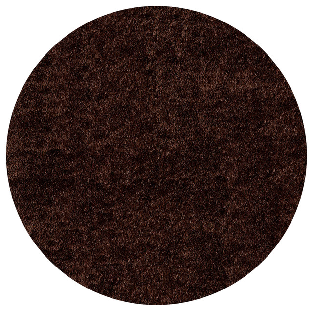 Handmade posh shag chocolate brown rug 4 39 x 4 39 contemporary rugs by for Chocolate brown bathroom rugs