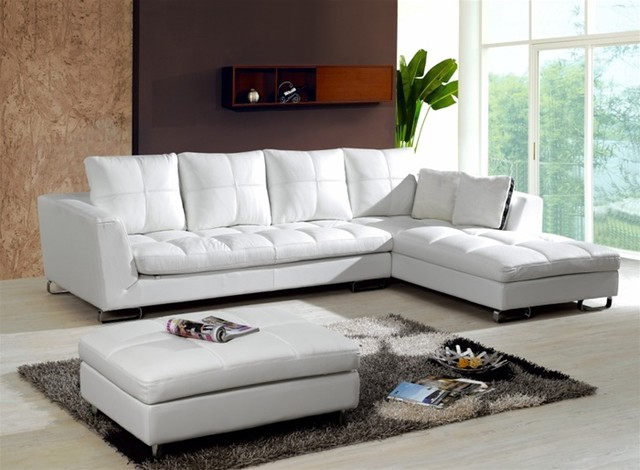 Phoenix contemporary leather sectional modern for Sectional sofas phoenix