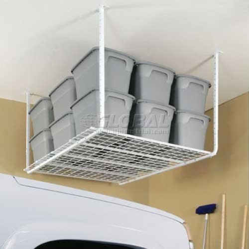 Adjustable 30-40 Heavy-Duty Ceiling-Mounted Shelf Storage System - Industrial - Garage And Tool ...