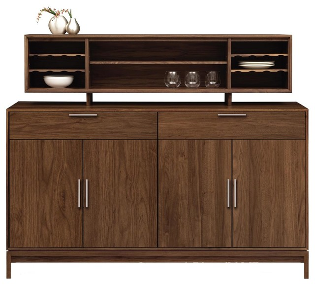 Copeland Furniture Kyoto 2 Drawer Over 4 Door Buffet and Hutch, - Contemporary - China Cabinets ...