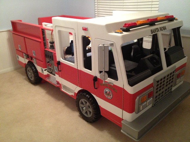 Fire truck bed - Fireman bunk bed ...