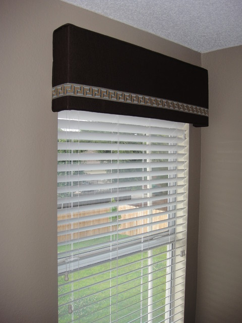 Cornice Board With Trim Modern Window Treatments