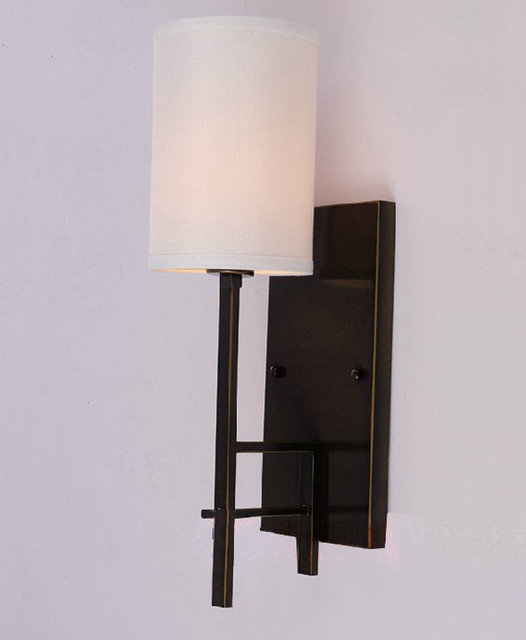 Antique Farmhouse Wall Sconces : Antique Metal and Fabric Wall Sconce - Farmhouse - Wall Sconces - new orleans - by PHX LIGHTING