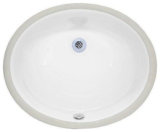 Undermount Sink 18 Oval Vitreous China White Contemporary Bathroom Sinks By Plfixtures