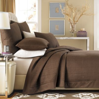 Real Simple Dune Coverlet In Chocolate Contemporary