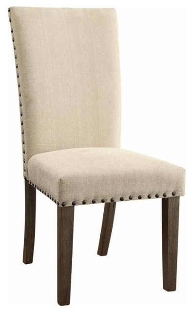 webber transitional style side chair with padded