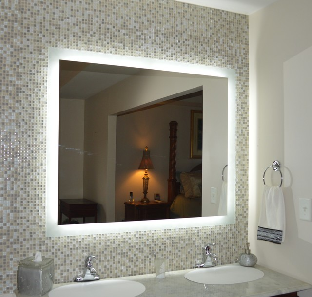 Lighted Mirrors For Every Bath Mam94840 48 Quot Wide X 40 Quot Tall