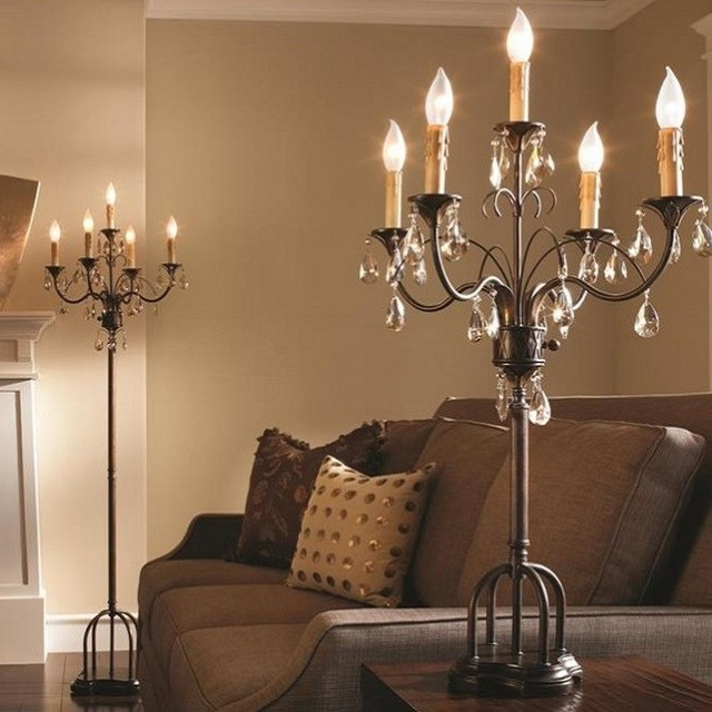 Anora 5 Lamp Floor Candelabra Traditional Floor Lamps