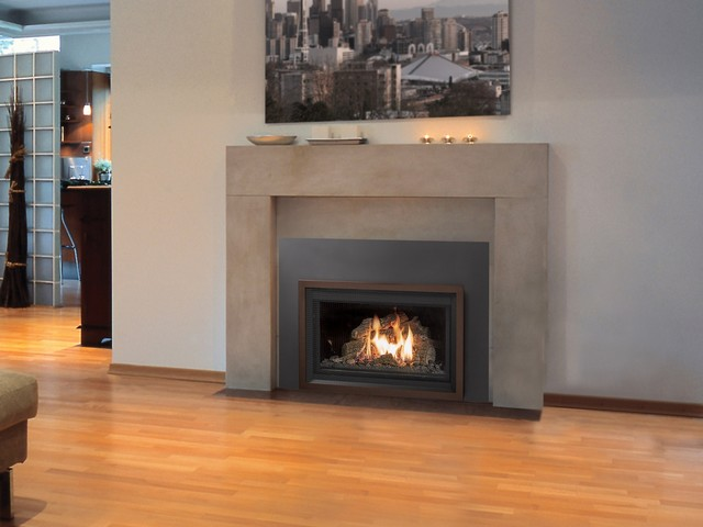 Lopi dvs greensmart with remote gas insert contemporary for Fireplace inserts seattle