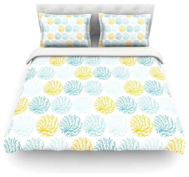 anchobee coralina teal yellow duvet cover lightweight twin modern duvet covers and duvet. Black Bedroom Furniture Sets. Home Design Ideas