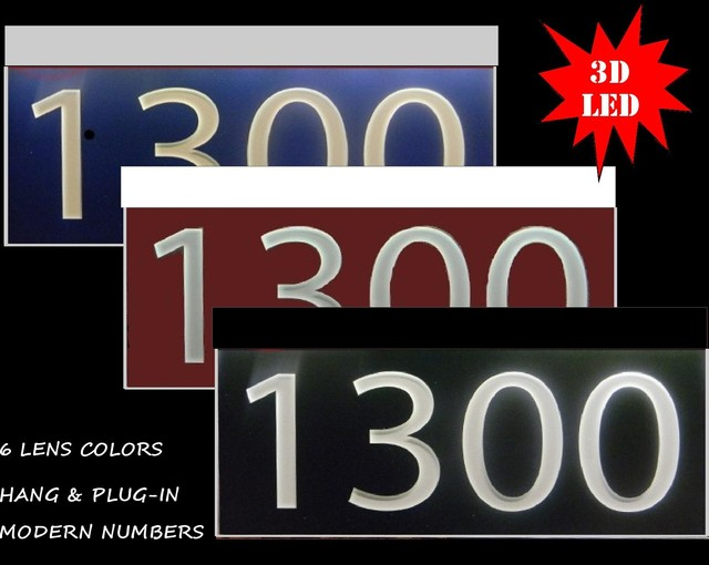 led lighted home address signs - Contemporary - House Numbers - Dallas - by Ezstreet address signs