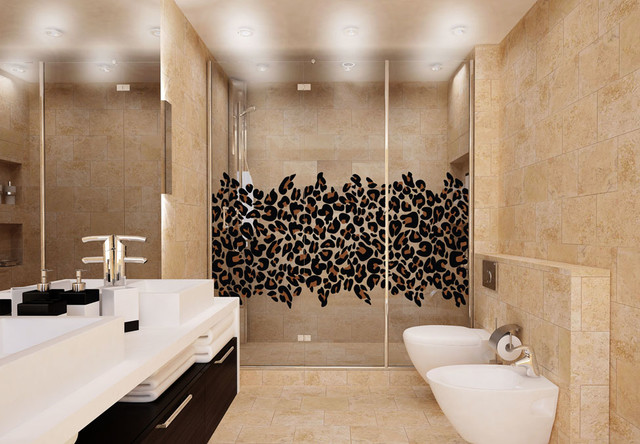 Leopard print bathroom decor
