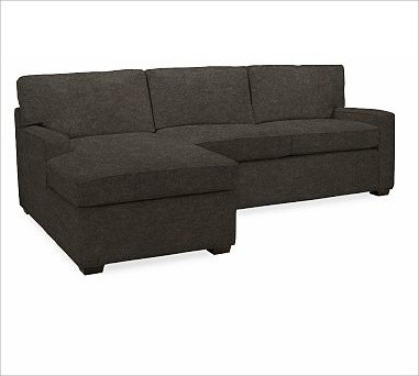 sectional with chaise down blend wrap cushions velvet traditional