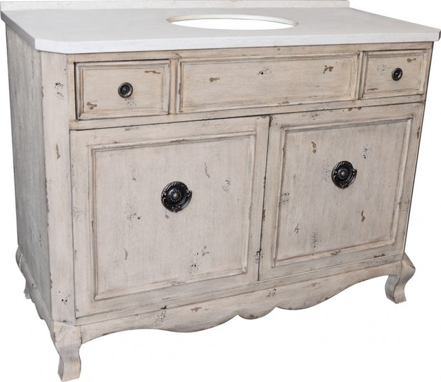 "48"" Single Sink Bathroom Vanity Aged Pine Farmhouse Bathroom Vaniti"