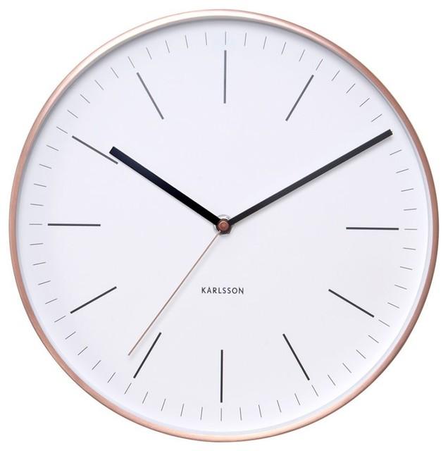 Minimal Wall Clock White Contemporary Wall Clocks