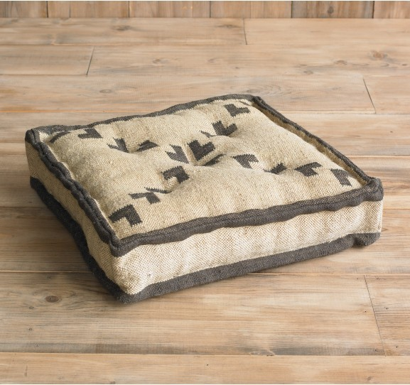 Pondicherry Floor Cushion - Modern - Floor Pillows And Poufs - by DwellStudio