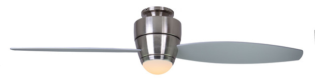 Astra Ceiling Fan : Astra ceiling fan brushed chrome with light