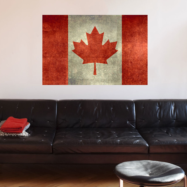 National Flag Of Canada Wall Sticker Decal By Bruce Stanfield Authentic Small Contemporary