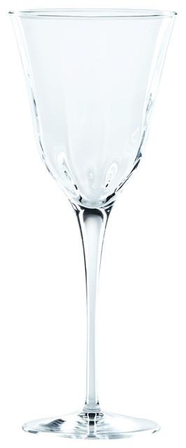 Vietri Optical Crystal Wine Glasses Set Of 4 9 H 9 Oz