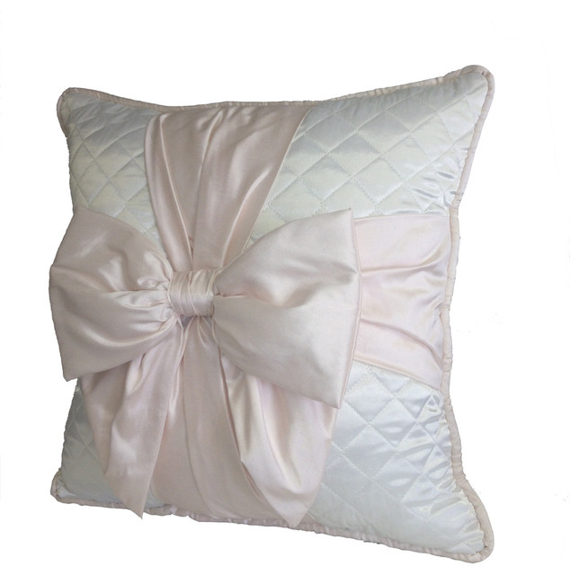 White Quilted Decorative Pillows : Chanel Inspired Pillow - White Quilted - Contemporary - Decorative Cushions - los angeles - by ...