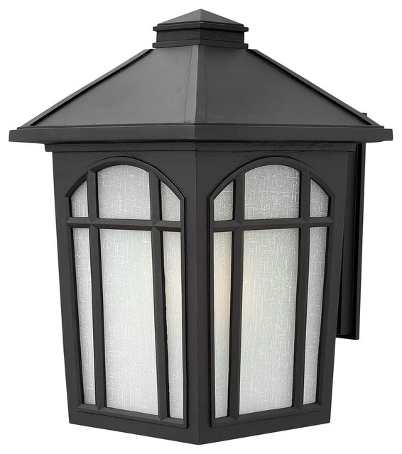 Exterior Wall Sconces Traditional : Hinkley Lighting Large Outdoor Wall Sconce in Black Finish - Traditional - Outdoor Wall Lights ...