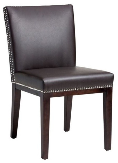 Leather Dining Chair With Nailhead Brown Dining Chairs  : dining chairs from www.houzz.co.uk size 458 x 631 jpeg 32kB