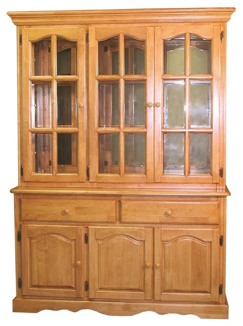 Eco-Friendly Wood Buffet with Lighted Hutch contemporary-china-cabinets-and-hutches
