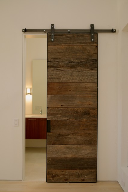 Reclaimed wood sliding doors for Wooden sliding doors