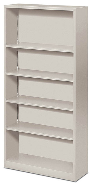 HON Brigade Steel Five-Shelf Bookcase - Contemporary - Filing Cabinets - by Rulers
