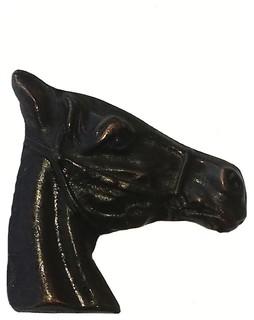 Horse Head Stallion Cabinet Knob, Antique Copper - Rustic - Cabinet ...