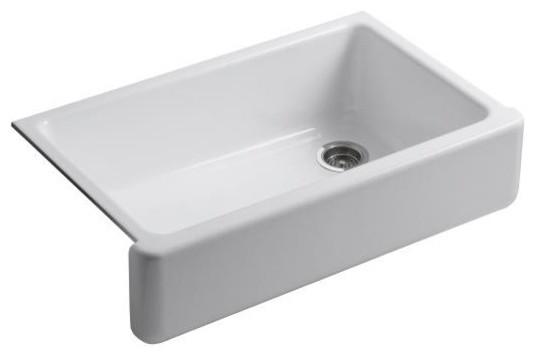 Self Trimming Farmhouse Sink : 6489-NY Whitehaven Self-Trimming Apron Front Single Basin Sink ...