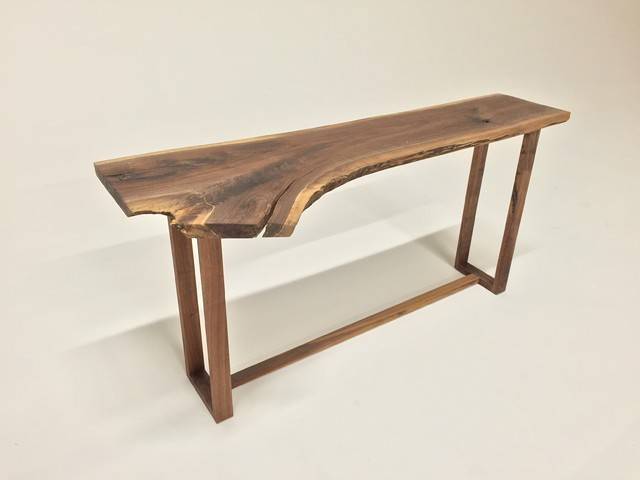 Live Edge Foyer Table : Beautiful live edge black walnut console sofa entry