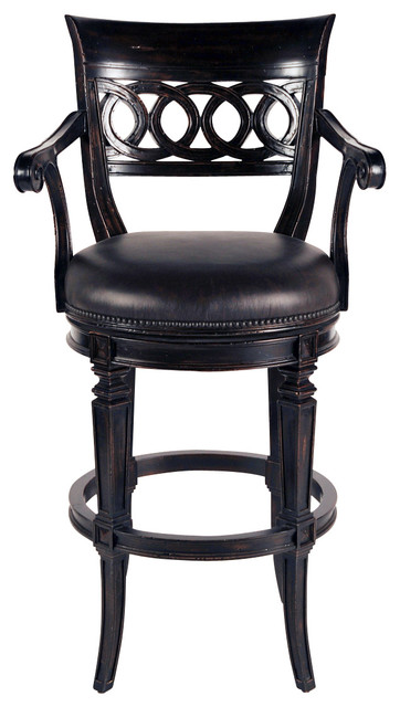 Rochelle Swivel Barstool Traditional Bar Stools And