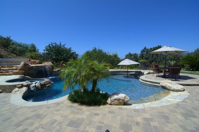 Backyard Oasis Tropical Los Angeles By Genesis Pools