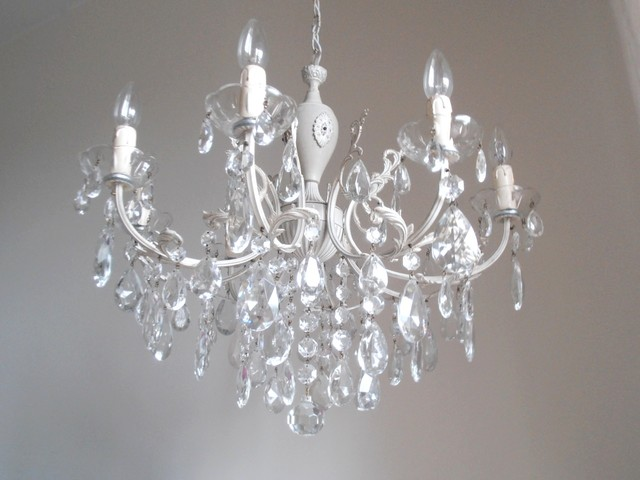 antique look shabby chic chandelier