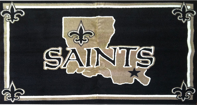 Nfl New Orleans Saints 4 X 6 Area Rug Contemporary Game Room And Bar Decor By Obedding