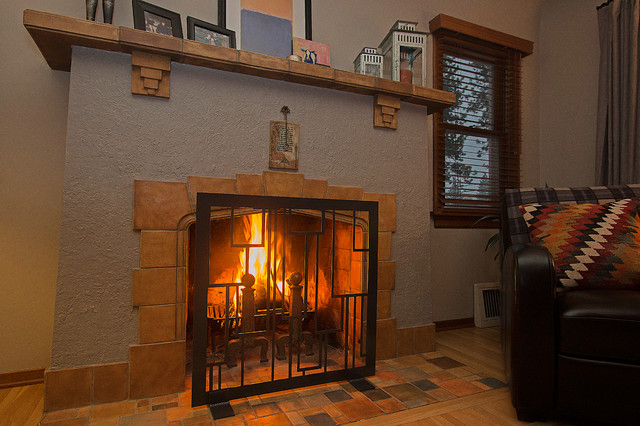 Fireplace screens modern fireplace screens other metro by revamp panels - Houzz fireplace screens ...