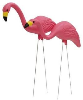 Easy Gardener Pink Flamingos Tropical Garden Statues