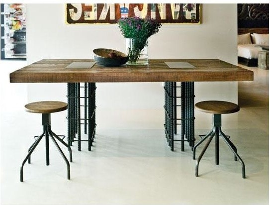 dining table industrial dining tables by environment furniture
