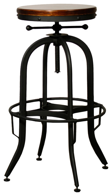 Industrial Vintage Bar Stool Black