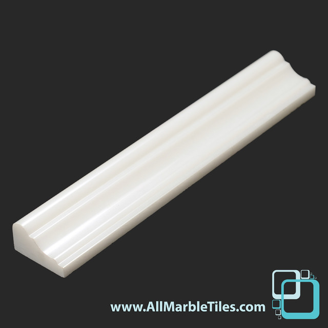 Arctic White Marble Crown Chair Rail Moulding