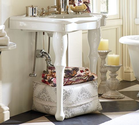 Parisian pedestal single sink console traditional bathroom vanities and sink consoles by for Single sink consoles bathroom