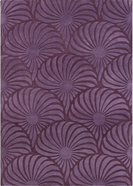 Chandra reena ree 32200 purple rug contemporary area for Purple area rugs contemporary