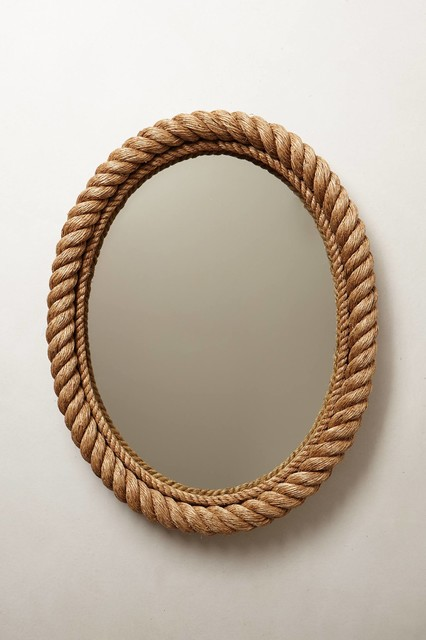 Shoreline Mirror, Oval - Beach Style - Wall Mirrors - by Anthropologie